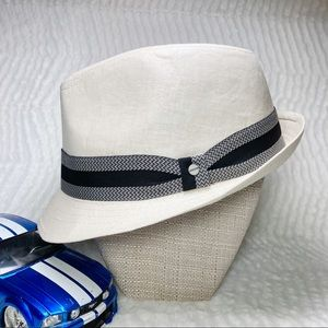 Stetson Fedora Cream Fabric Black Cream Band